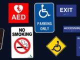 Different kinds of sign boards